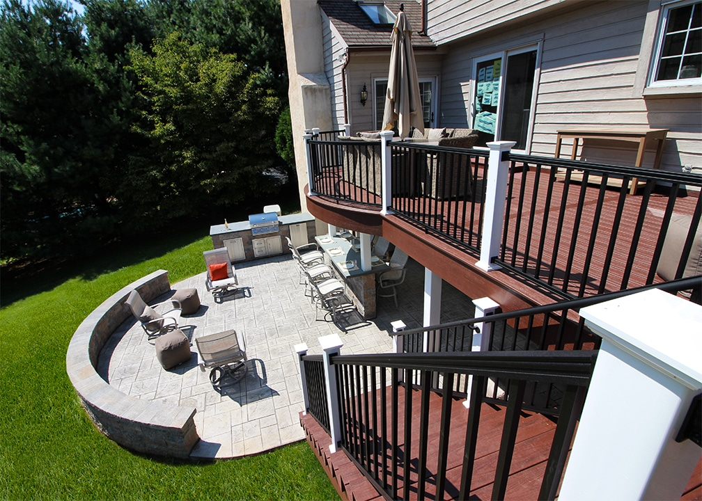 Custom Deck/Patio West Chester PA | 1206 Sq Ft | Keystone ... on Patio With Deck Ideas id=31329