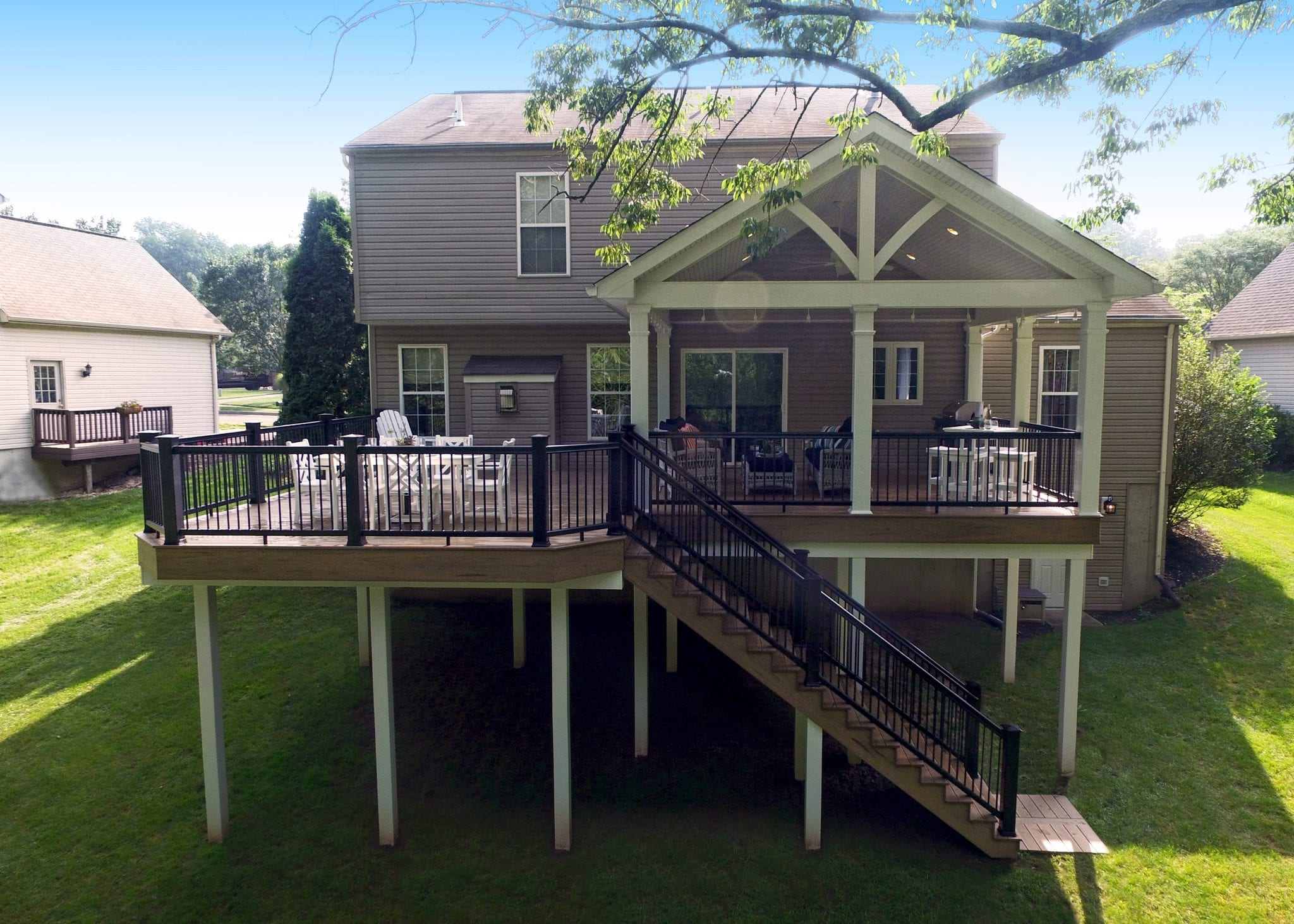Stand Alone Deck Designs : Elevated deck designs safety features for above ground decks