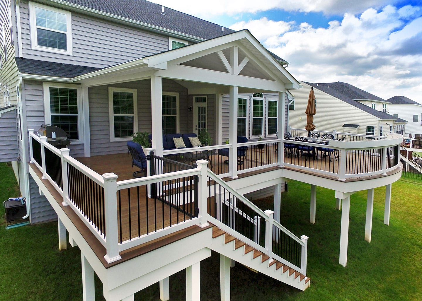 two story composite deck