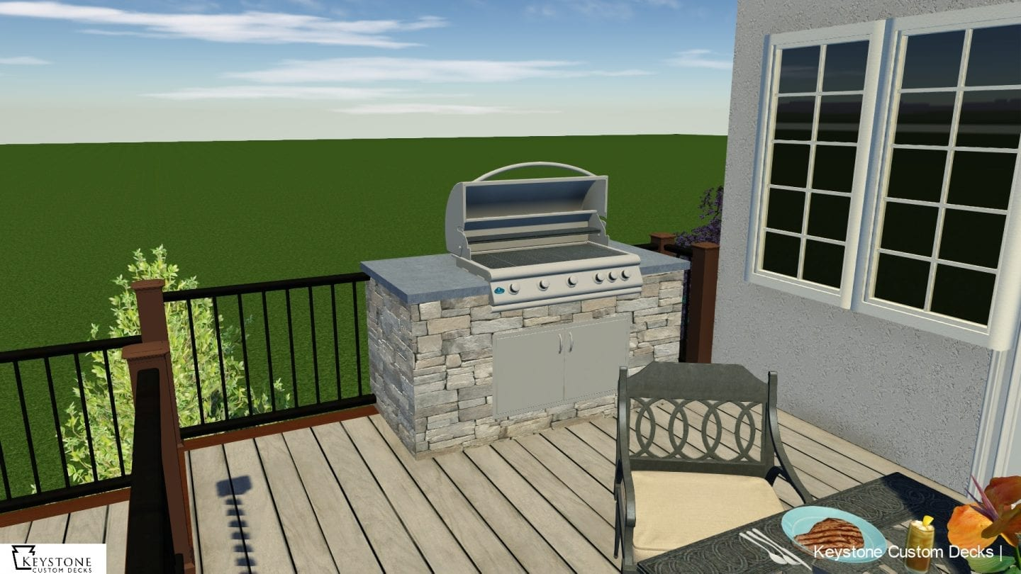 3D rendering of custom trex deck