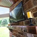 Domenick Deck with Porch Backyard barn wood mantel