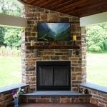 Domenick Deck with Porch Backyard fireplace