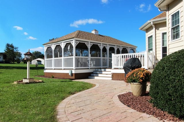 Fultz - custom gazebo and techo bloc walk