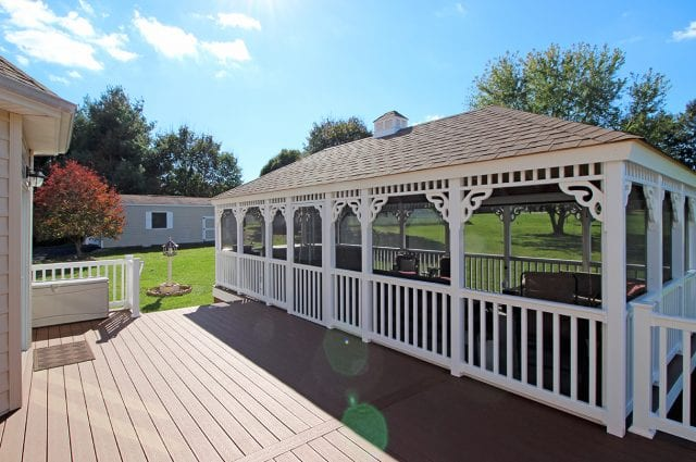 Fultz - custom vinyl gazebo and trex decking