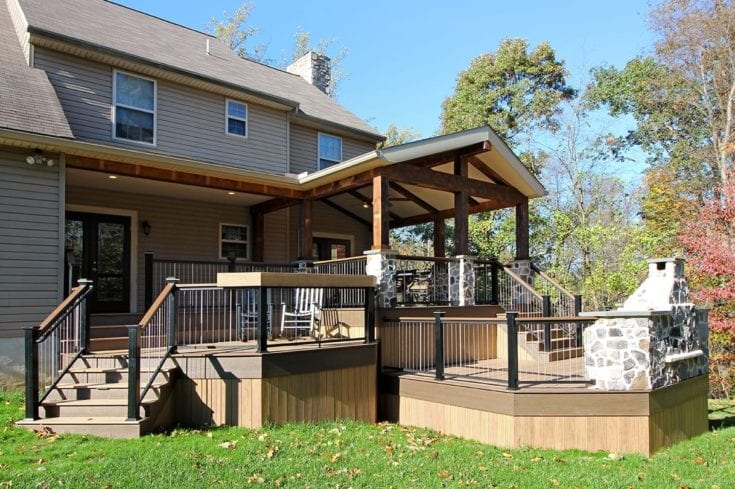 Custom TimberTech Deck / Barnwood Porch – Lincoln University, PA