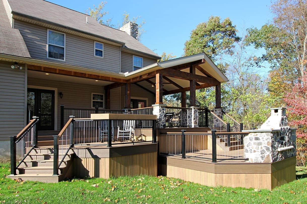 Custom TimberTech Deck / Barnwood Porch - Lincoln University, PA 1