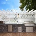 Parham Timbertech Grill area with lighting
