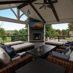 Parham Timbertech Porch with lighting and fireplace