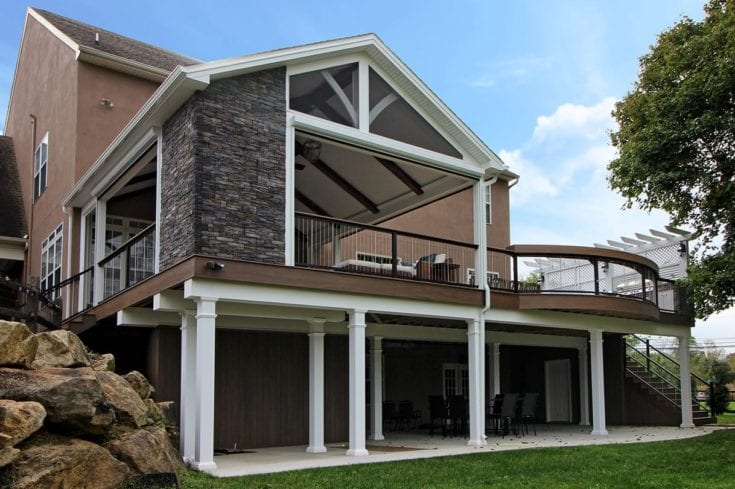 Custom TimberTech Deck/Porch – Glenmoore, PA