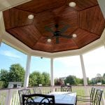 Gandhi - Timbertech porch with lights and fan