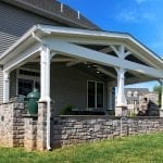 Keller - Porch with stone work and open gable