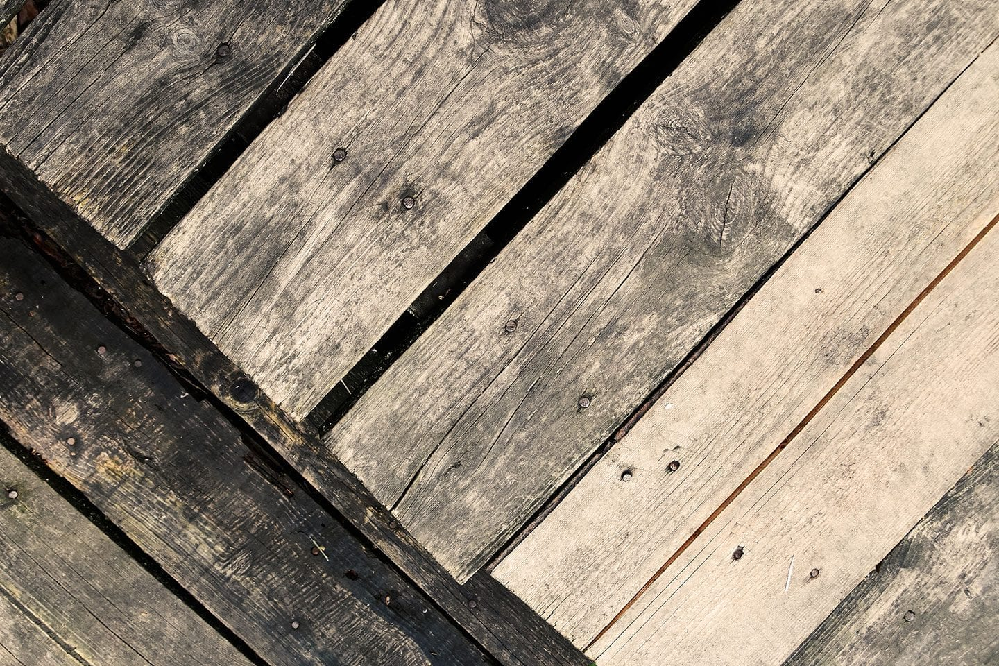 old wooden deck boards
