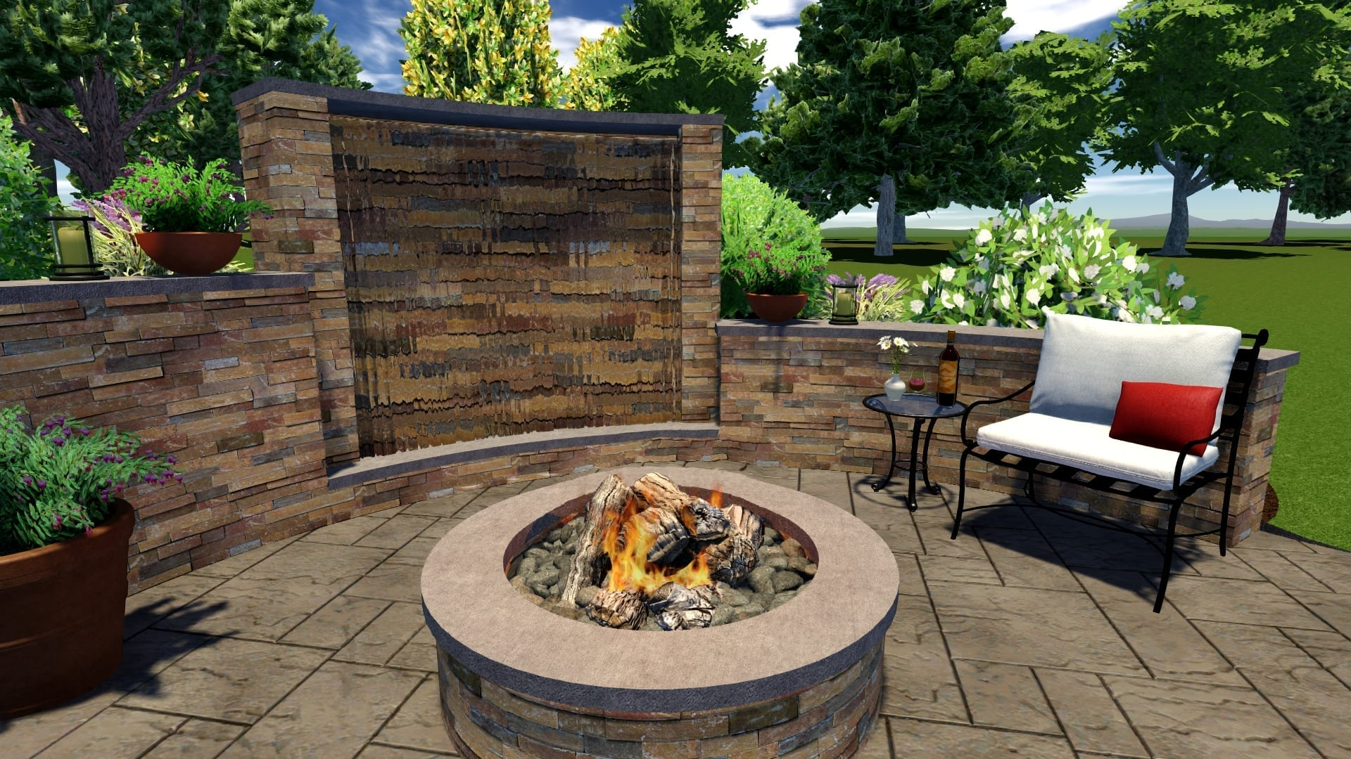 Outdoor Water Features: Fish Ponds, Patio & Deck ... on Water Feature Ideas For Patio id=43788