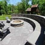 Belles - Stone stitting wall and fire pit