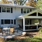 Hendrick - Timbertech Porch with open gable