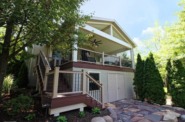 Custom TimberTech Caribbean Redwood Deck / Porch – Harrisburg, PA