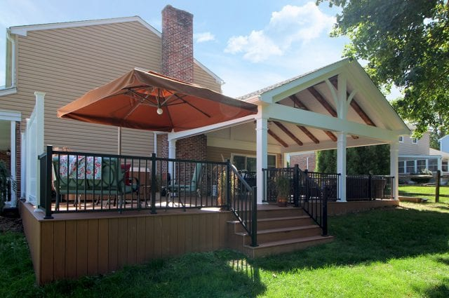 Custom TimberTech Deck / Barnwood Porch – West Chester, PA