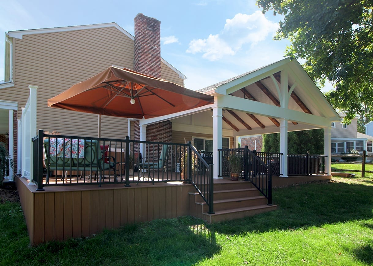 Custom TimberTech Deck / Barnwood Porch - West Chester, PA 1