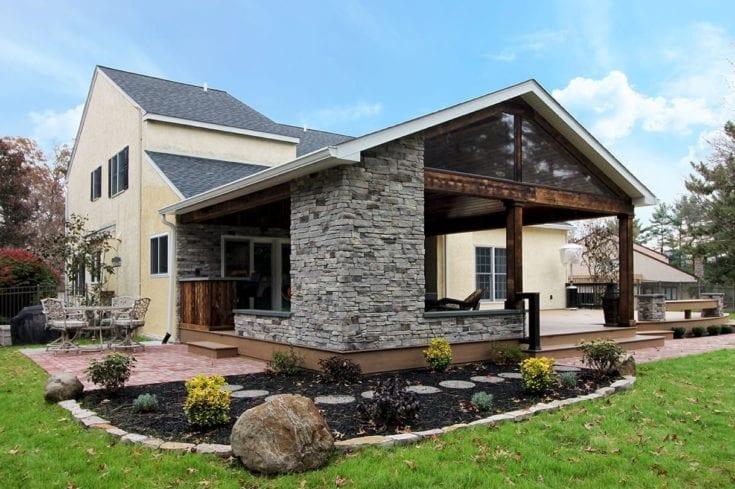 Custom TimberTech Deck / Barnwood Porch – Blue Bell, PA