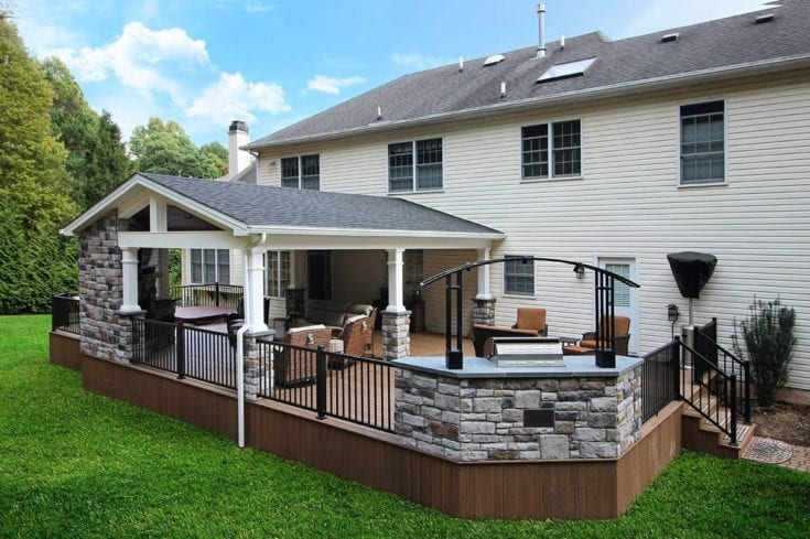 Custom TimberTech Pecan Deck / Porch – Newtown Square, PA