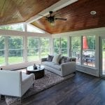 Bucci - Sunroom with synergy pine and deck