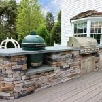 Manning - Ashwood Timbertech deck and kitchen with green egg and grill