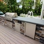 Manning - Ashwood Timbertech deck and kitchen with grill and refrigerator