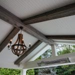 Manning - Timbertech deck and porch with barnwood and lights