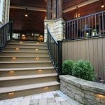 Mattice - TimberTech Porch with curved stairs