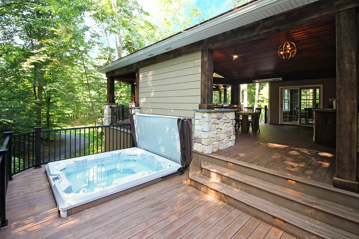rustic deck and porch ideas for chester springs pa