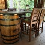 Mattice - TimberTech Porch with slate barrel Table