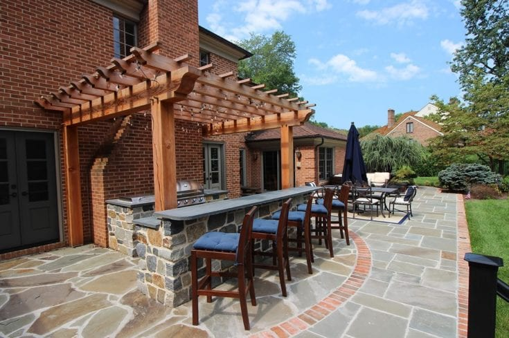 Custom Flagstone Patio / Pergola – Ambler, PA