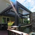 Puchtler - Tudor Brown fiberon deck and Arcadia pergola