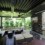 Puchtler - fiberon deck and Arcadia pergola with TV and Fan