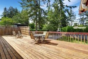 cheap wooden deck