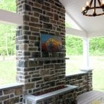 Arjan Timbertech Deck and porch with fire feature