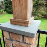 Beck - Porch with stonework and barnwood