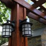 Broderick - Pressure treated pergola with decorative lighting