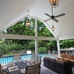 Brook - Trex deck and porch with lights and fan