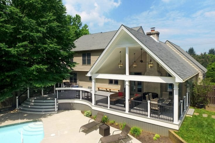 Custom Trex Deck / Open Porch – Malvern, PA
