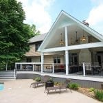 Brook - Trex deck with A frame porch and vertical decking