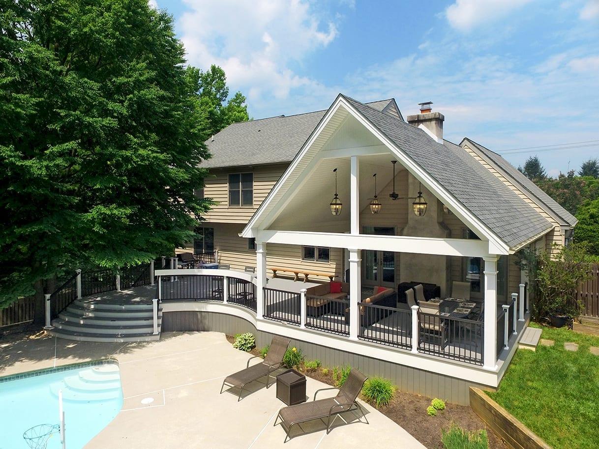 Custom Trex Deck / Open Porch - Malvern, PA 1