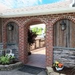 Esh - Azek deck with brick arch way