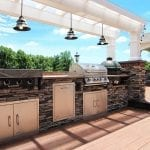 Esh - Azek deck with kitchen and green egg