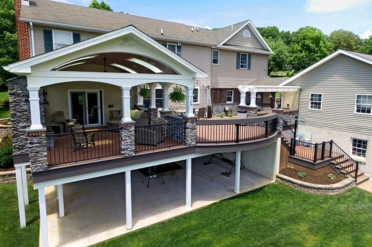 Custom Azek Deck / Barreled Porch – New Holland, PA