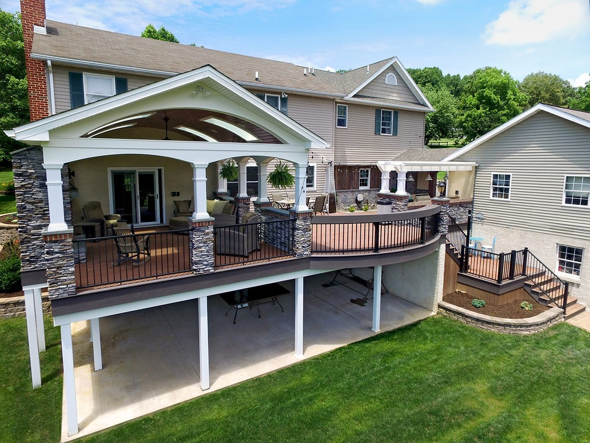 Custom Azek Deck / Barreled Porch - New Holland, PA 1