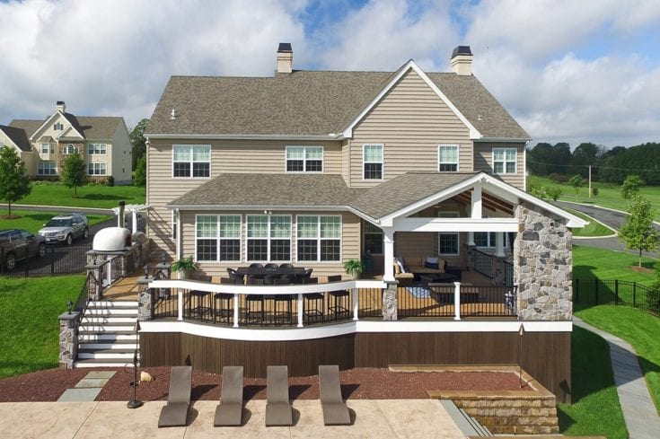 Custom TimberTech Deck / Barnwood Porch – Landenberg, PA