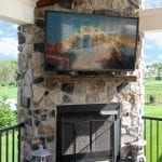 Lo - TimberTech Deck and porch with TV and fire feature