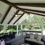 Massey - Trex deck and porch with barnwood beams