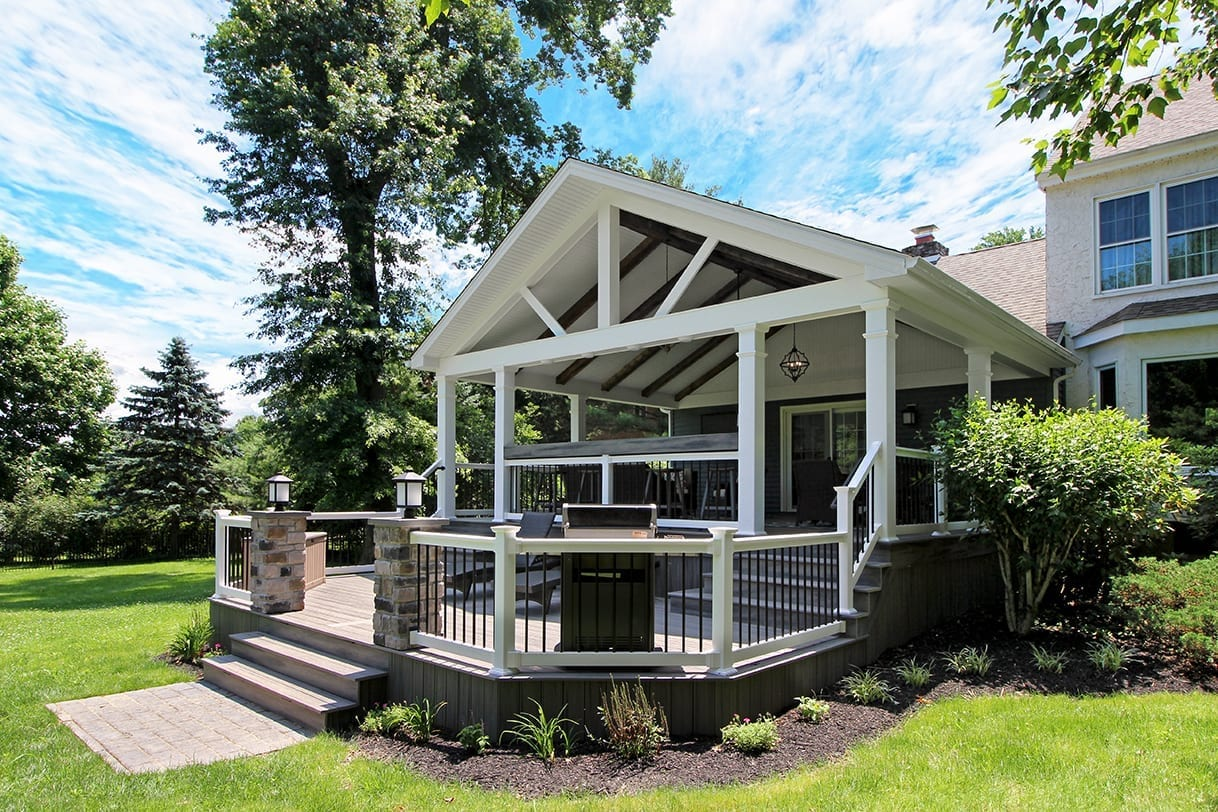 Custom Trex Deck / Barnwood Porch - West Chester, PA 1